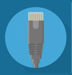 network connector icon vector image