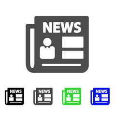 News flat icon vector