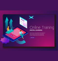 online training digital learning landing web page vector image