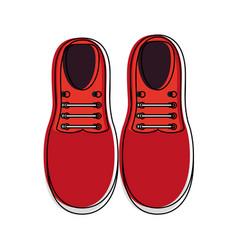 pair of elegant shoes vector image
