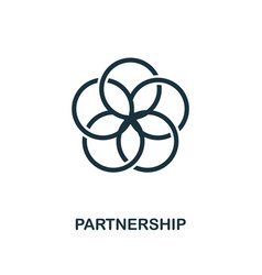 Partnership icon creative element design from vector