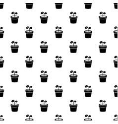 plant pattern seamless vector image