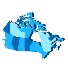 Political map of canada vector