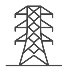 power energy tower icon outline style vector image