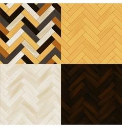 Realistic wooden floor herringbone parquet vector