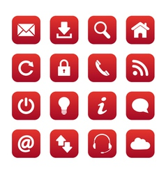 Red web buttons vector image