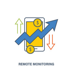 Remote monitoring of finances and performance vector
