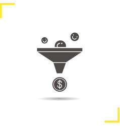 sales funnel icon vector image