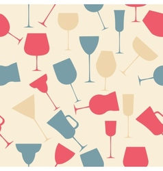Seamless background pattern of retro alcoholic vector image