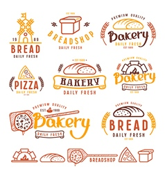 Set of bakery labels and design elements vector image