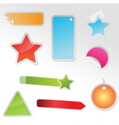 set of multicolored tags vector image