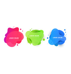 set of plastic liquid gradient bubbles banner vector image