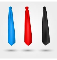 set of ties vector image
