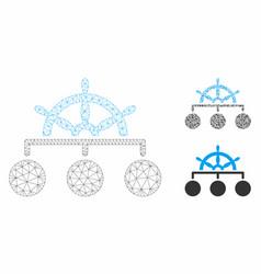 ship wheel hierarchy mesh wire frame model vector image