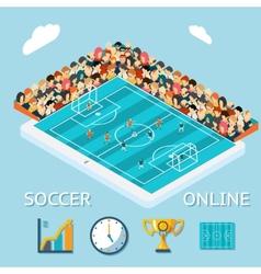 Soccer online vector image