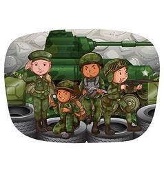 Soldier vector image