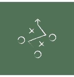 Tactical plan icon drawn in chalk vector image
