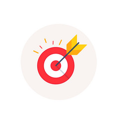 Target goal icon marketing targeting strategy vector