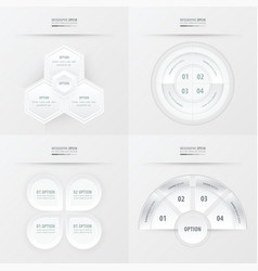 Template design 4 item white color vector