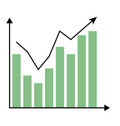 template growth chart vector image