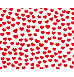 texture of small red hearts arranged template vector image