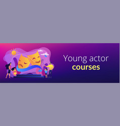 theater camp concept banner header vector image