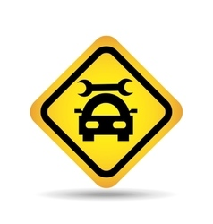Traffic sign concept icon car repair vector