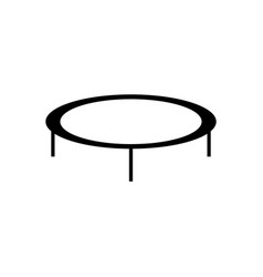 trampoline jumping icon vector image