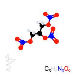 Trinitroglycerin nitroglycerin model vector