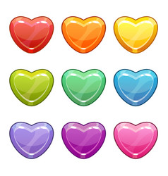 valentines day love symbols cute cartoon vector image