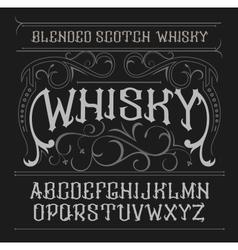 Vintage label font Whisky style vector