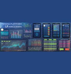 web design template for trading platform trader vector image