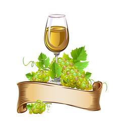 Wine glasses still life vector