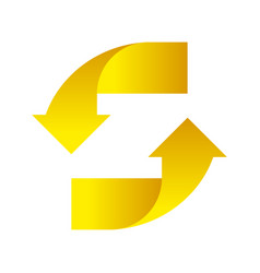 Yellow arrows up down on a white background vector