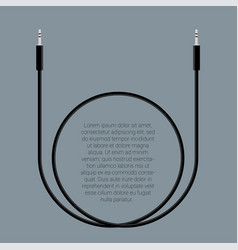 audio cable template vector image vector image