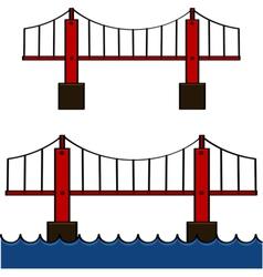 Cartoon bridge vector image vector image