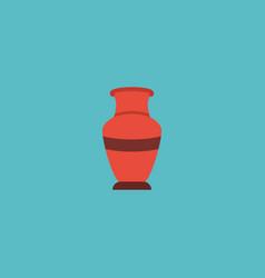 flat icon vase element of vector image
