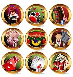 Gambling icons vector