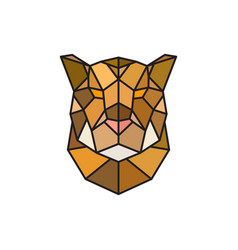 jaguar head logo template for business vector image