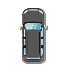 Modern suv car top view icon vector