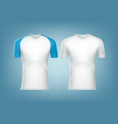 white t-shorts vector image vector image