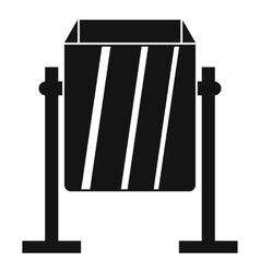 Metal dust bin icon simple style vector image vector image