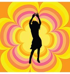 retro female dancer vector image