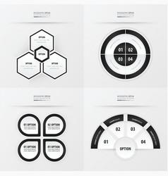 template design 4 item black and white color vector image