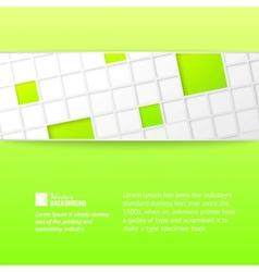 Tile banner over green backdrop vector