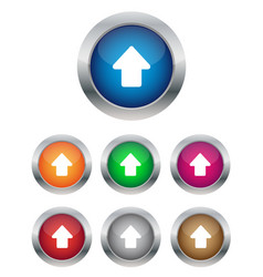 Up arrow buttons vector image