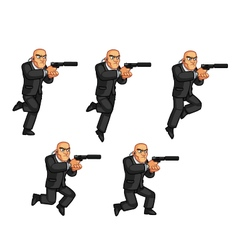 Body Guard Jumping Animation vector image vector image