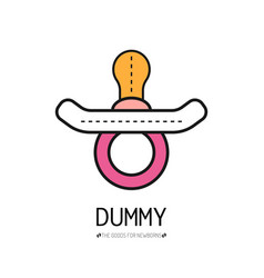 dummy flat color icon things for the newborn baby vector image
