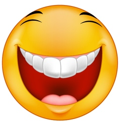 Laughing emoticon vector image