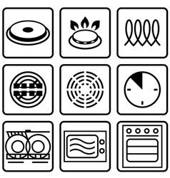 Metallic tableware symbols for food grade metal vector image vector image